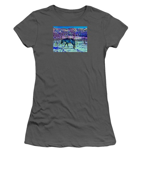 Women's T-Shirt (Junior Cut) featuring the photograph Christmas Roan El Valle Iv by Anastasia Savage Ealy