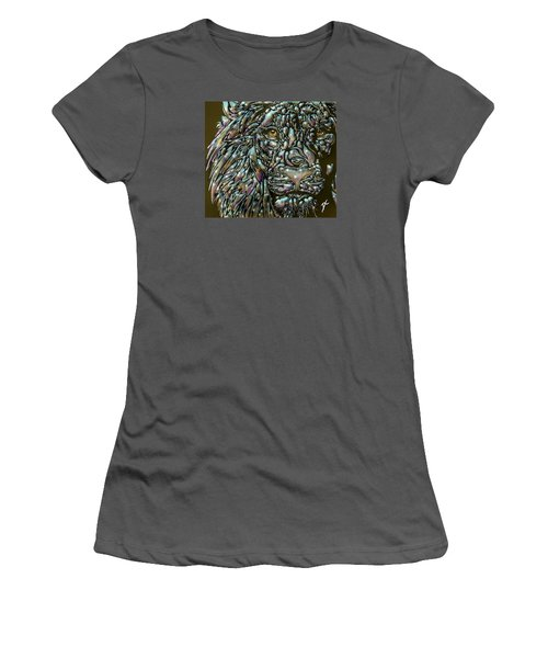 Chrome Lion Women's T-Shirt (Junior Cut)