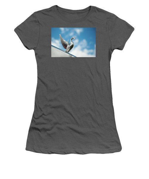 Chrome Swan Women's T-Shirt (Athletic Fit)
