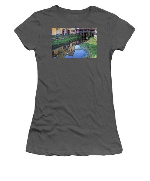 Women's T-Shirt (Junior Cut) featuring the photograph Chua Cau Reflection by Hitendra SINKAR
