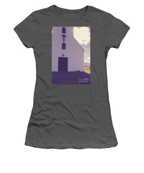 Women's T-Shirt (Athletic Fit) featuring the photograph Church Iceland by Edward Fielding