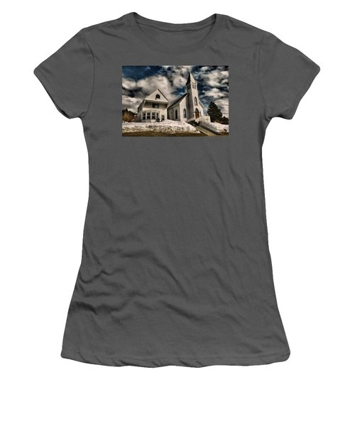 Women's T-Shirt (Junior Cut) featuring the photograph Church Of The Immaculate Conception Roslyn Wa by Jeff Swan