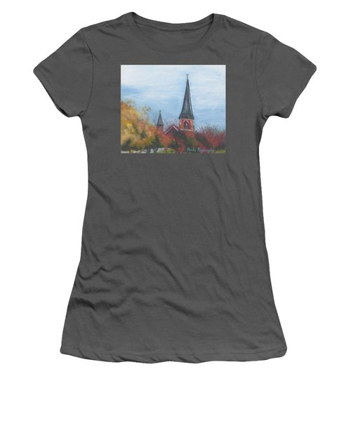 Church Steeple Women's T-Shirt (Athletic Fit)
