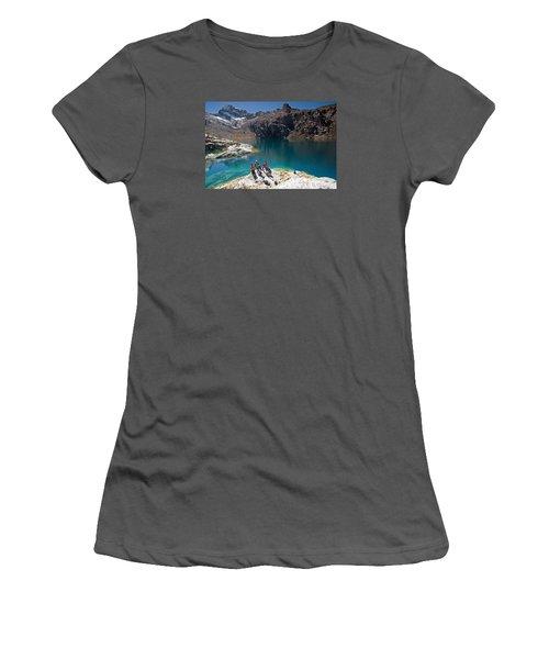 Churup Lake Women's T-Shirt (Junior Cut) by Aivar Mikko