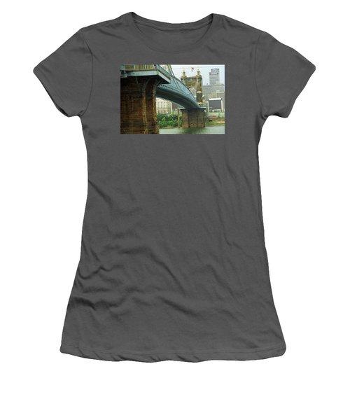 Cincinnati - Roebling Bridge 2 Women's T-Shirt (Junior Cut) by Frank Romeo