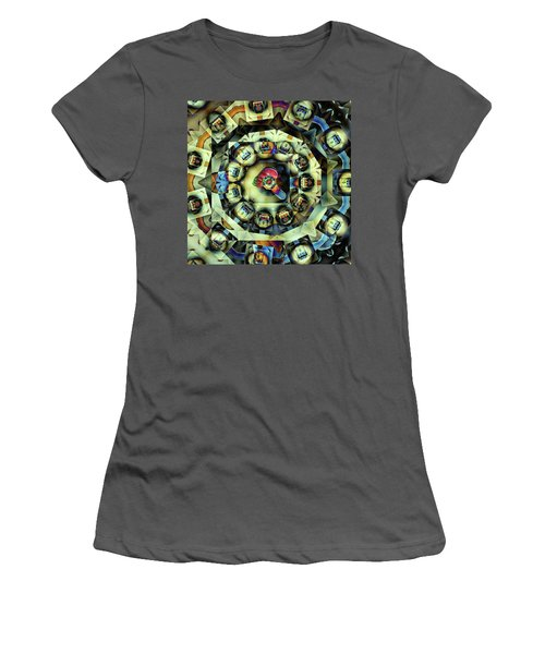 Circled Squares Women's T-Shirt (Junior Cut) by Ron Bissett