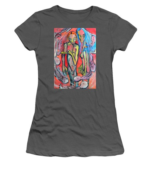 Circular - Around Women's T-Shirt (Junior Cut) by Kenneth Agnello