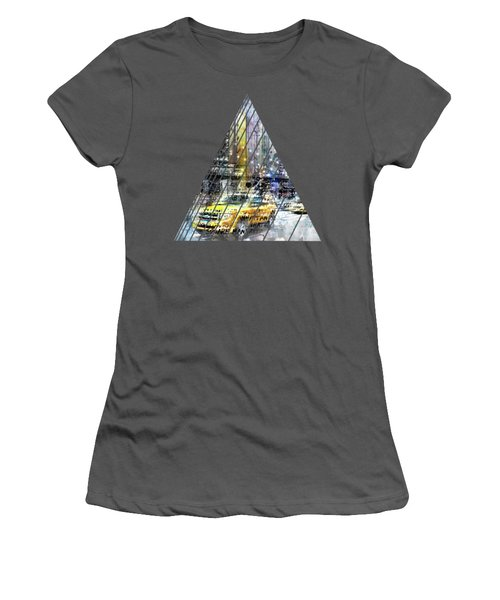 City-art Nyc Collage Women's T-Shirt (Athletic Fit)
