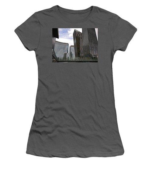 City Center At Las Vegas Women's T-Shirt (Junior Cut) by Karen J Shine