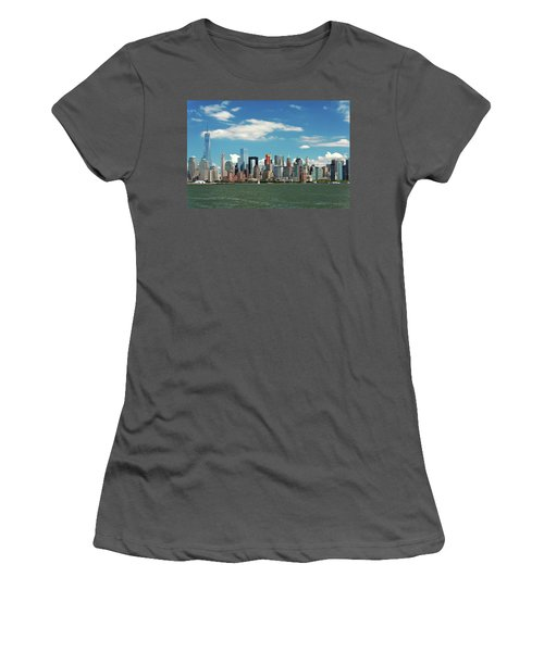 Women's T-Shirt (Junior Cut) featuring the photograph City - New York Ny - The New York Skyline by Mike Savad