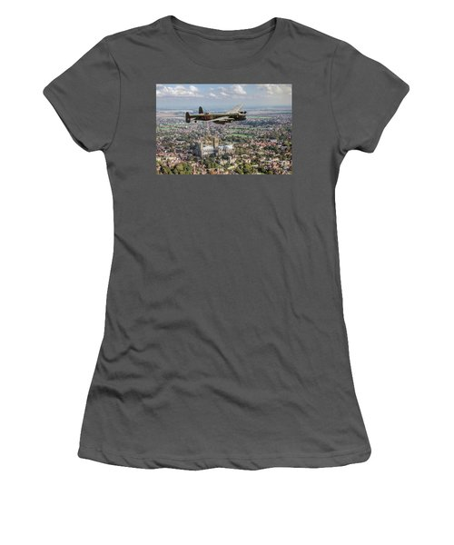 Women's T-Shirt (Athletic Fit) featuring the photograph City Of Lincoln Vn-t Over The City Of Lincoln by Gary Eason