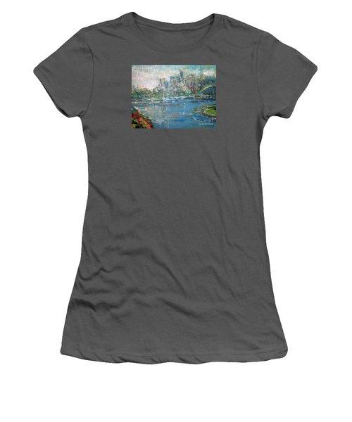 City On The Bay Women's T-Shirt (Junior Cut) by John Fish