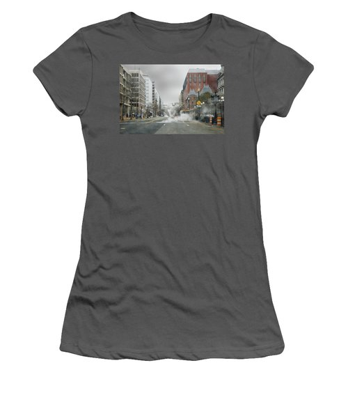 City Street On A Rainy Day Women's T-Shirt (Junior Cut) by Francesa Miller