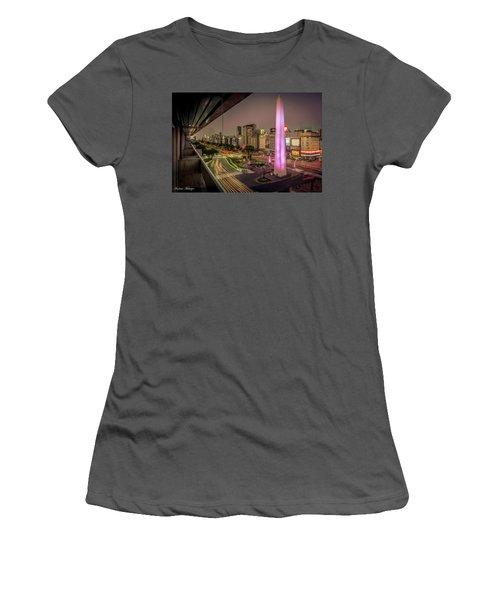 City Sunset Women's T-Shirt (Athletic Fit)