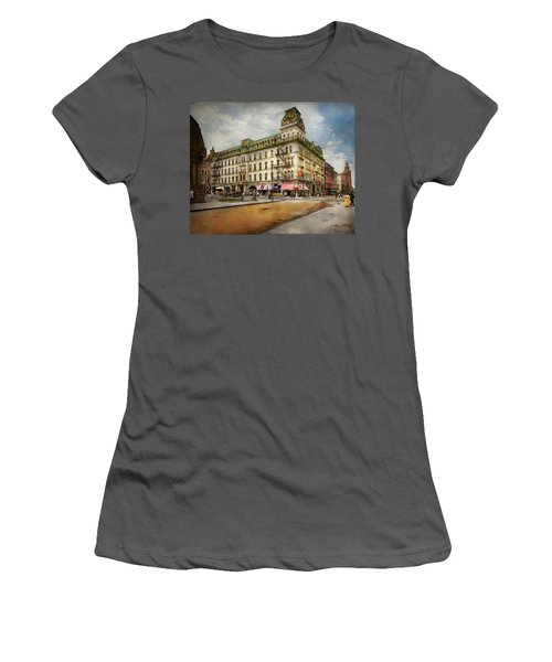 Women's T-Shirt (Athletic Fit) featuring the photograph City - Toledo Oh - Got A Boody Call 1910 by Mike Savad