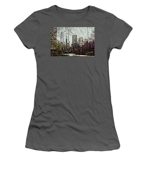 City View From Park Women's T-Shirt (Junior Cut) by Sandy Moulder