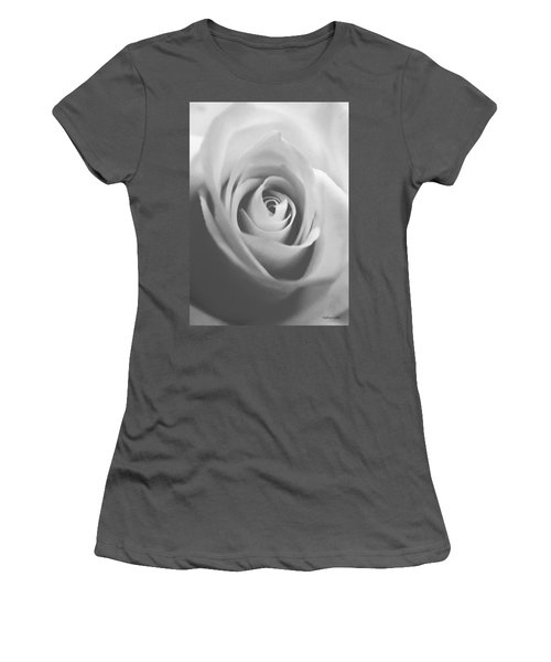 Classic Bw Rose Women's T-Shirt (Athletic Fit)