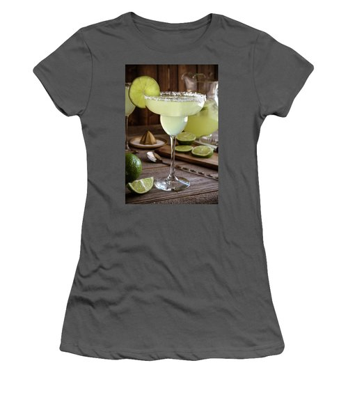 Women's T-Shirt (Junior Cut) featuring the photograph Classic Lime Margaritas On The Rocks by Teri Virbickis