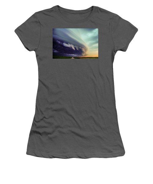 Classic Nebraska Shelf Cloud 027 Women's T-Shirt (Athletic Fit)