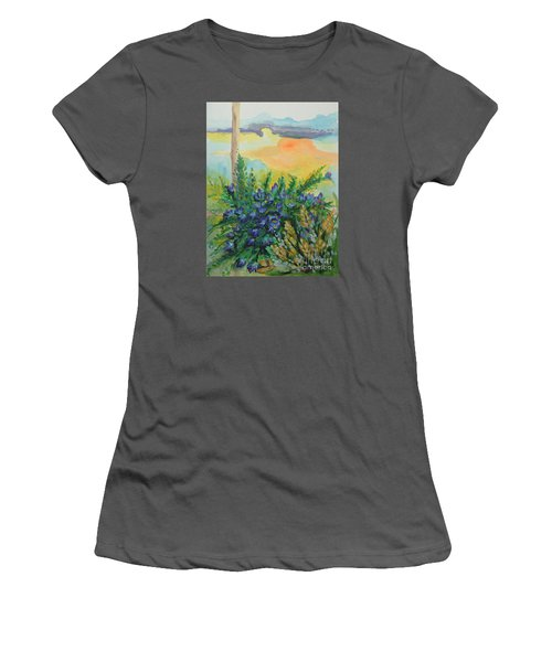 Women's T-Shirt (Junior Cut) featuring the painting Cleansed by Holly Carmichael