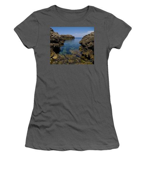 Clear Water Of Mallorca Women's T-Shirt (Junior Cut) by Anastasy Yarmolovich