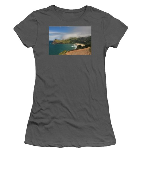 Clearing Fog Along The Oregon Coast Women's T-Shirt (Athletic Fit)