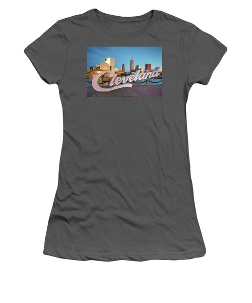 Women's T-Shirt (Junior Cut) featuring the photograph Cleveland's North Coast by Brent Durken
