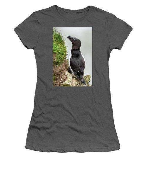 Cliff Edge 1 Women's T-Shirt (Junior Cut) by Nigel Wooding