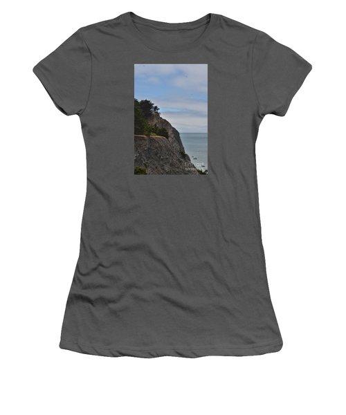Cliff Hanger Women's T-Shirt (Junior Cut) by Judy Wolinsky