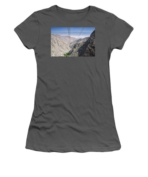 Climbing Mount San Jacinto Women's T-Shirt (Athletic Fit)