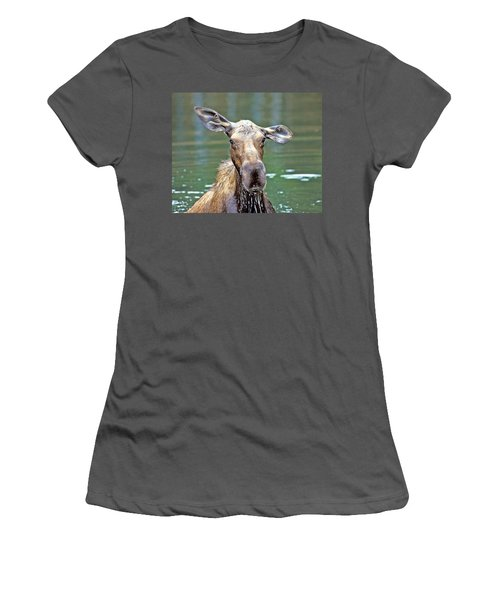 Close Wet Moose Women's T-Shirt (Athletic Fit)