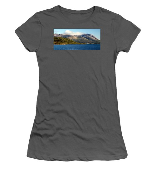 Cloud-capped Mountains Women's T-Shirt (Athletic Fit)