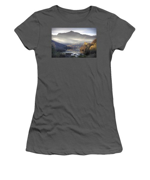 Women's T-Shirt (Junior Cut) featuring the photograph Mist In The Evening by Gouzel -