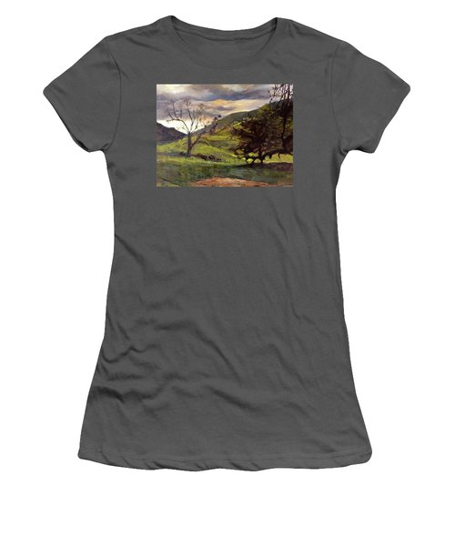 Clouds And Cattle Women's T-Shirt (Athletic Fit)
