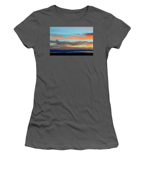 Clouds At Different Altitudes  Women's T-Shirt (Athletic Fit)