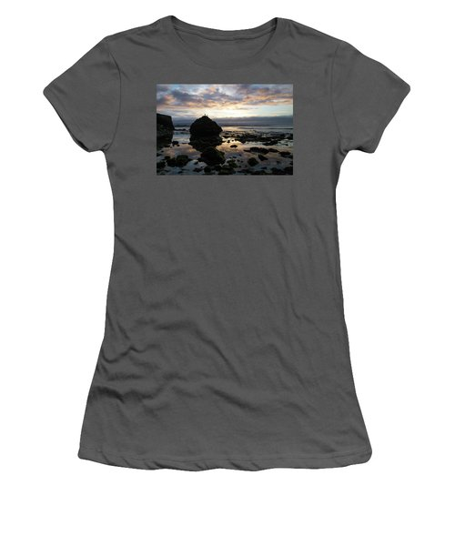 Women's T-Shirt (Athletic Fit) featuring the photograph Clouds In The Sea by Lora Lee Chapman