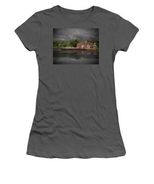 Clouds Over The Harbor Women's T-Shirt (Athletic Fit)