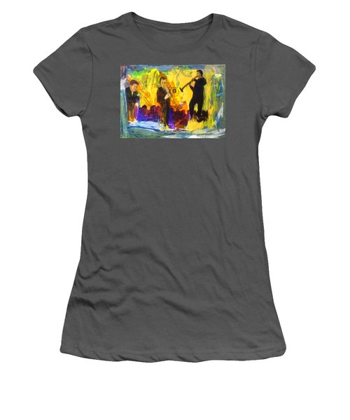 Women's T-Shirt (Junior Cut) featuring the painting Club Cuba by Keith Thue