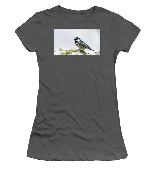Women's T-Shirt (Junior Cut) featuring the photograph Coal Tit's Profile by Torbjorn Swenelius