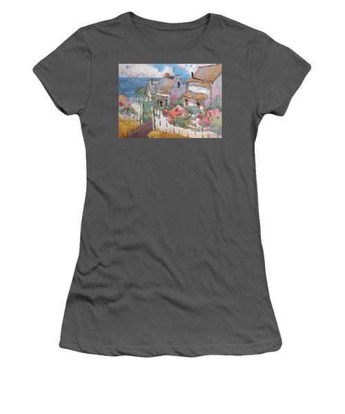 Coastal Cottages Women's T-Shirt (Athletic Fit)