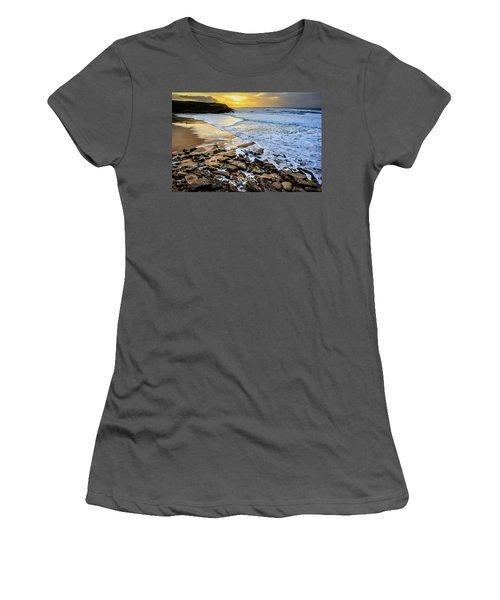 Women's T-Shirt (Junior Cut) featuring the photograph Coastal Sunset by Marion McCristall