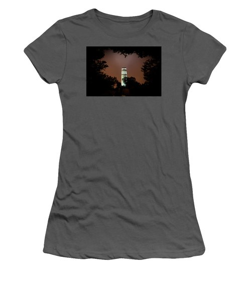 Coit Tower Through The Trees Women's T-Shirt (Athletic Fit)