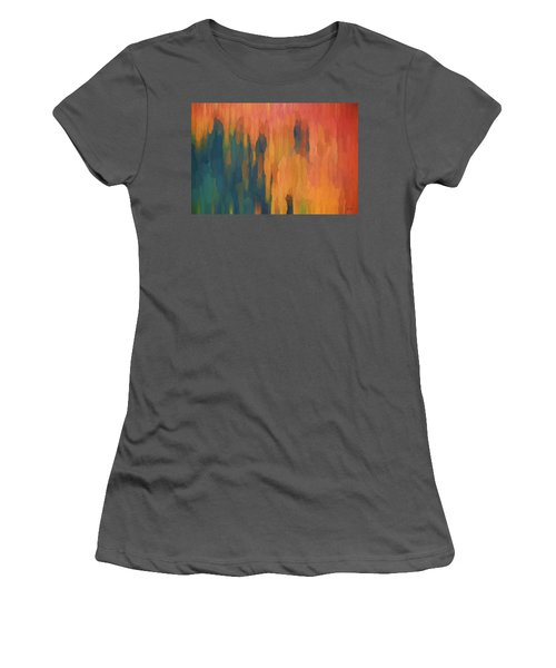 Color Abstraction Xlix Women's T-Shirt (Athletic Fit)