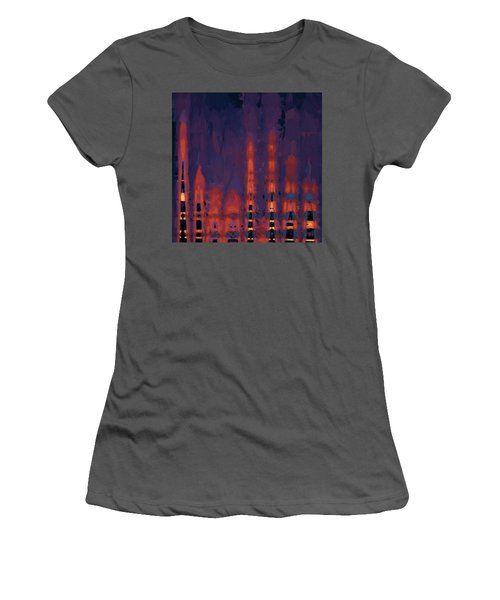 Color Abstraction Xxxviii Women's T-Shirt (Junior Cut) by Dave Gordon