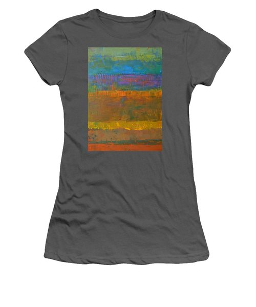 Women's T-Shirt (Junior Cut) featuring the painting Color Collage One by Michelle Calkins