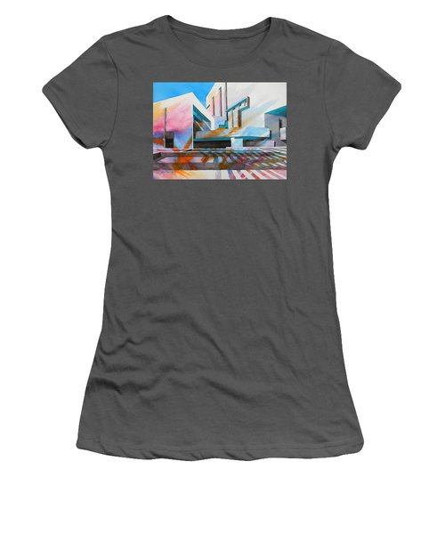 Women's T-Shirt (Junior Cut) featuring the painting Color Simphony by J- J- Espinoza