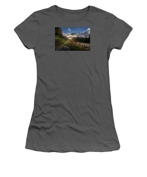 Colorado Wildflowers Under Evening Sun Women's T-Shirt (Junior Cut) by Michael J Bauer
