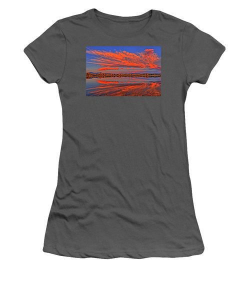 Women's T-Shirt (Junior Cut) featuring the photograph Colorful Fall Morning by Scott Mahon