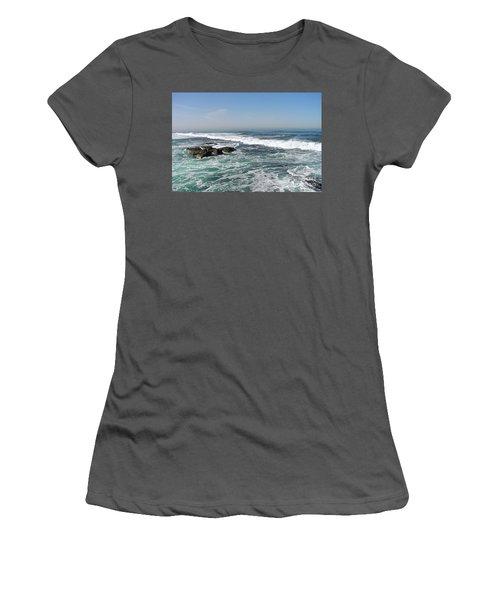 Colors Of The Sea Women's T-Shirt (Junior Cut) by Carol  Bradley