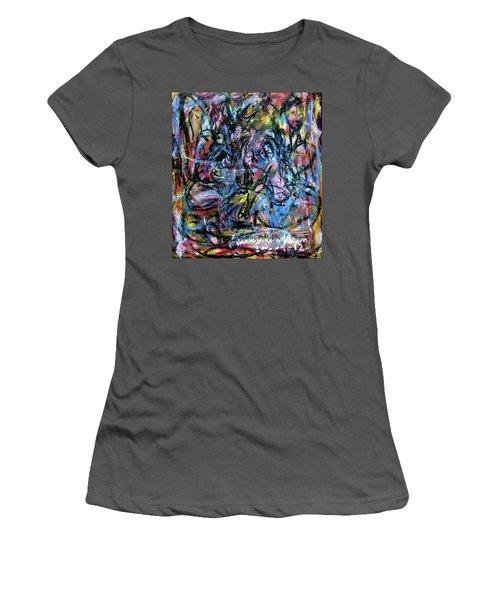 Colour Talking Women's T-Shirt (Athletic Fit)